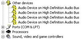 high definition audio class driver: