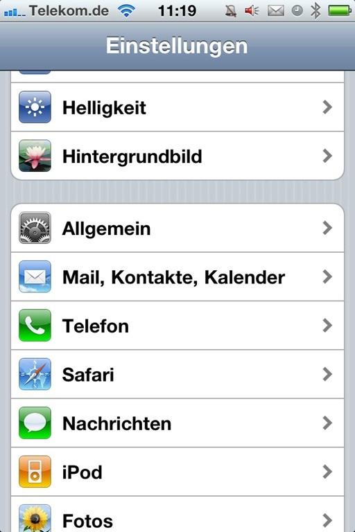 iphone inhalte einstellungen löschen dauer