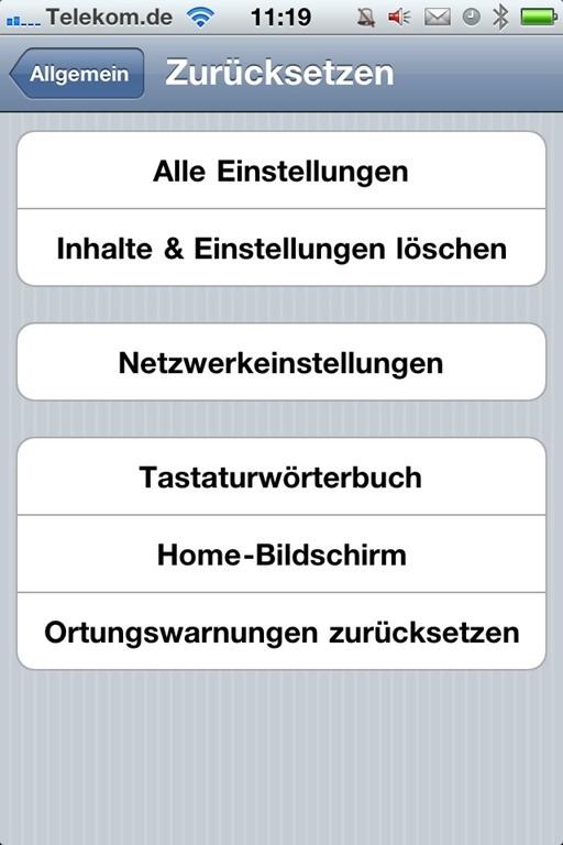 Iphone Software Komplett Löschen