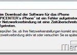 iPhone-Fehler-Zeitüberschreitung