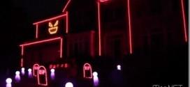 Halloween-2012-Licht-Haus-Installation