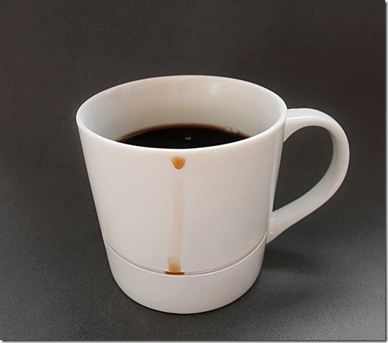 diese kaffeetasse hinterl sst keine kaffeer nder. Black Bedroom Furniture Sets. Home Design Ideas