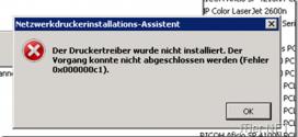 Druckertreiber-Installation-Fehler-0x000000c1