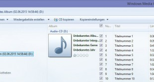 Audio CD mit Hilfe des Windows Media Player zu einem MP3 Files umwandeln (1)