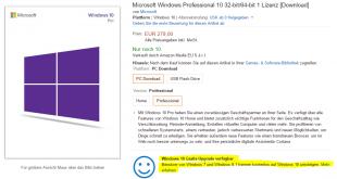 Windows-10-Datenträger-Amazon