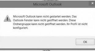 Microsoft Outlook kann nicht gestartet werden