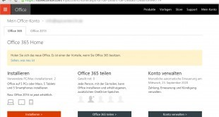 Office 365 Update auf Office 2016 manuell starten