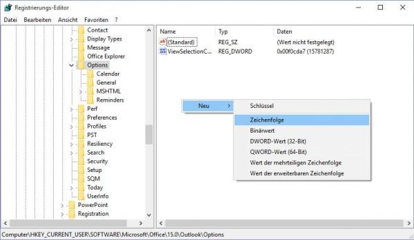 Outlook-Standard-Speicherort-ändern