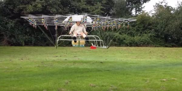 Selbstbau-Multicopter-erster-bemannter-Drohnenflug