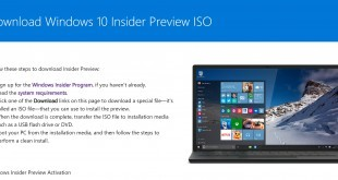Windows 10 - ISO Download der Insider Version