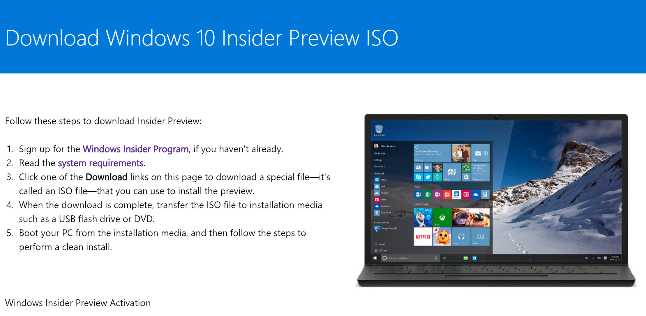 Windows 10 insider iso download direkt bei microsoft for Window 10 iso