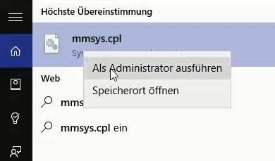 Windows Befehle um Steuerungselement direkt zu starten 2