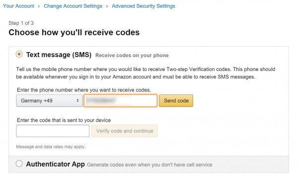 2 Faktor Authentifizierung Amazon (4)