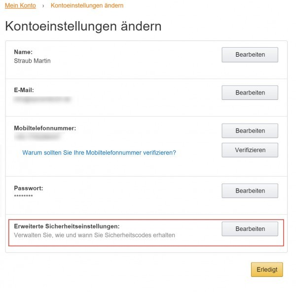 2 Faktor Authentifizierung Amazon (7)