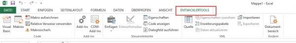 Excel - Entwicklertools einblenden aktivieren - Anleitung-4