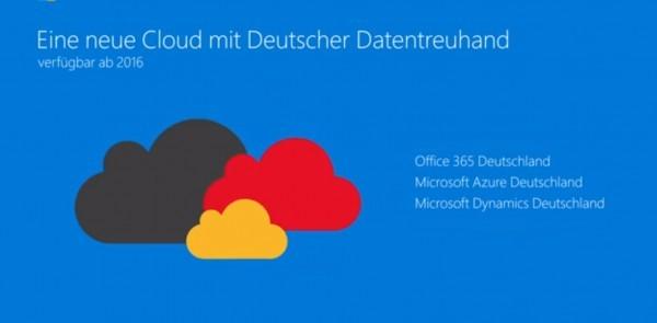 Microsoft Cloud wandert nach Deutschland