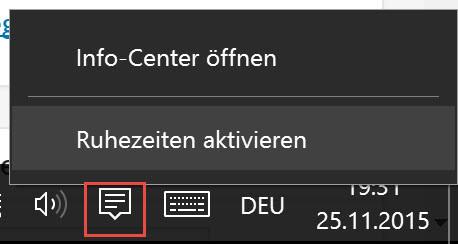 Windows 10 - Nicht stören Modus aktivieren-1