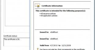 eDellRoot Zertifikat - gefaktes Google Zertifikat