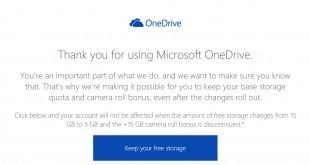 One Drive Speicher behalten - Microsoft rudert zurück