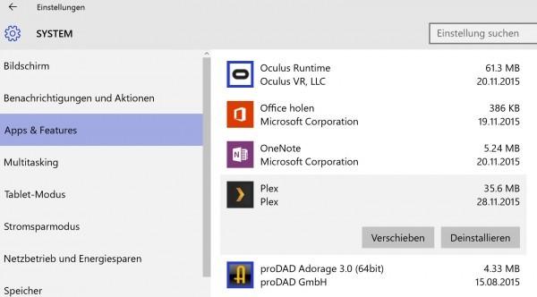 Windows 10 - Apps und Daten auf externes Medium auslagern-3