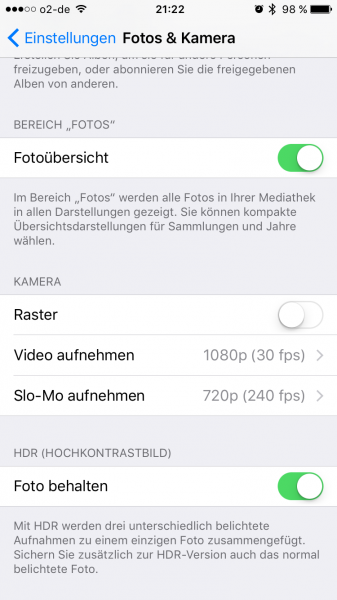 iPhone 4K Videos aktivieren (1)