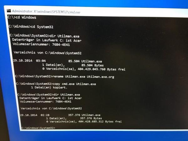 Windows 10 - Passwort vergessen - Passwort knacken (7)