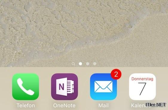iPhone Eingang zeigt immer ungelesene Mail an (1)