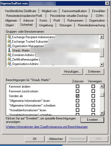 Outlook - Sie besitzen nicht die Berechtigung die Nachricht im Auftrag des angegebenen Benutzers zu senden-3