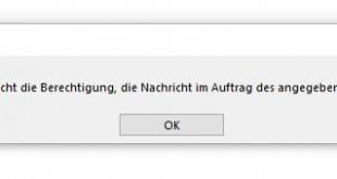 Outlook - Sie besitzen nicht die Berechtigung die Nachricht im Auftrag des angegebenen Benutzers zu senden