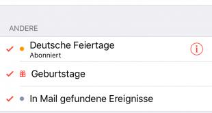 iPhone iPad - Deutsche Feiertage werden doppelt angezeigt (1)