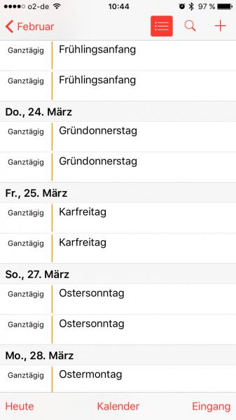 iPhone iPad - Deutsche Feiertage werden doppelt angezeigt (2)