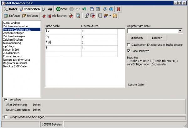 Umlaute in Dateinamen ersetzen - Windows