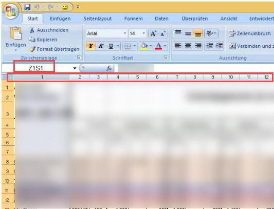Excel - Zahlen statt Buchstaben in Spalten werden angezeigt-1