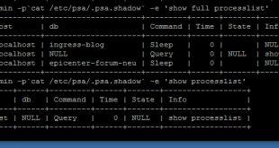 PLESK - MySQL - CPU Nutzung zu hoch