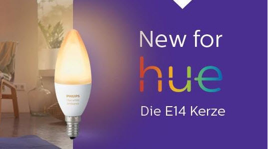 philips hue lampen jetzt auch mit e14 sockel. Black Bedroom Furniture Sets. Home Design Ideas