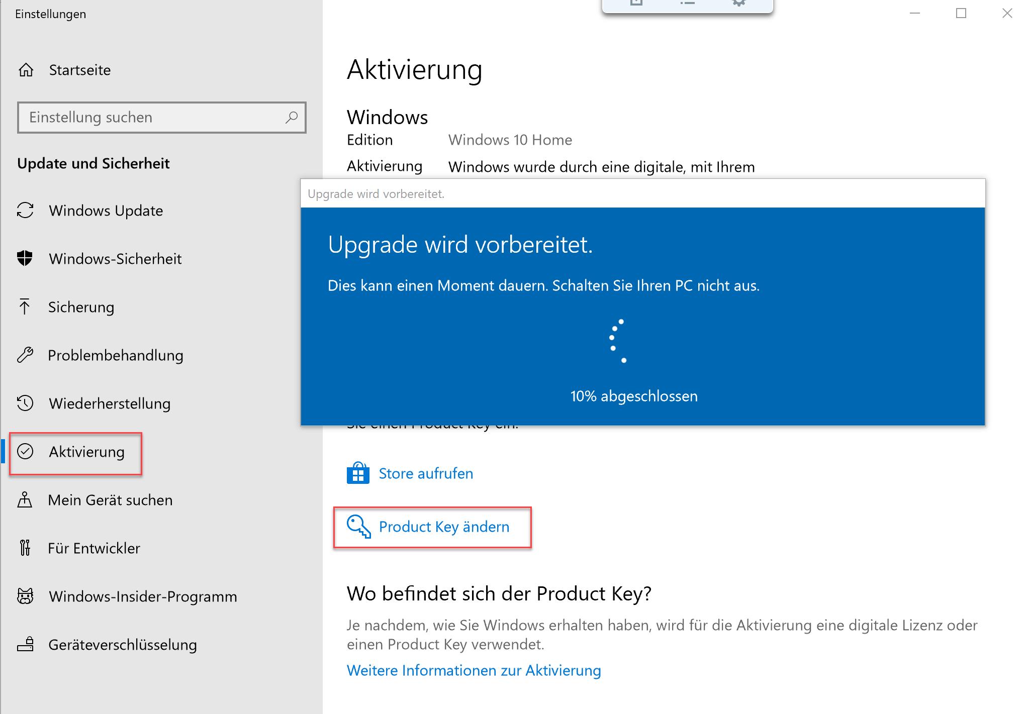 Von Windows 10 Home Auf Pro